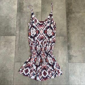 Rory Beca Marma tie dye smocked waist mini dress!